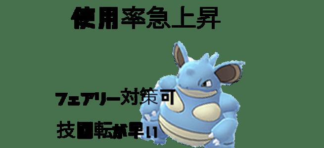 【ポケモンGO】ニドクイン強い・パーティ入り多いって本当?【評価・技】